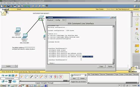 Cisco Mac Address Lookup Switchport Port Security Mac Address Sticky Ccna