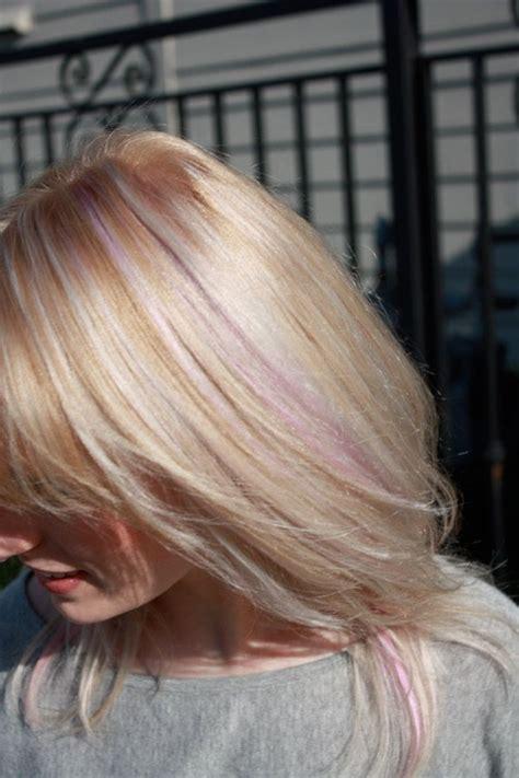 light pink highlights hair www imgkid the