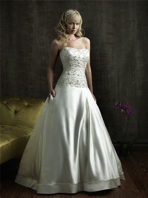 ball gown strapless fitted dropped waist embroidered