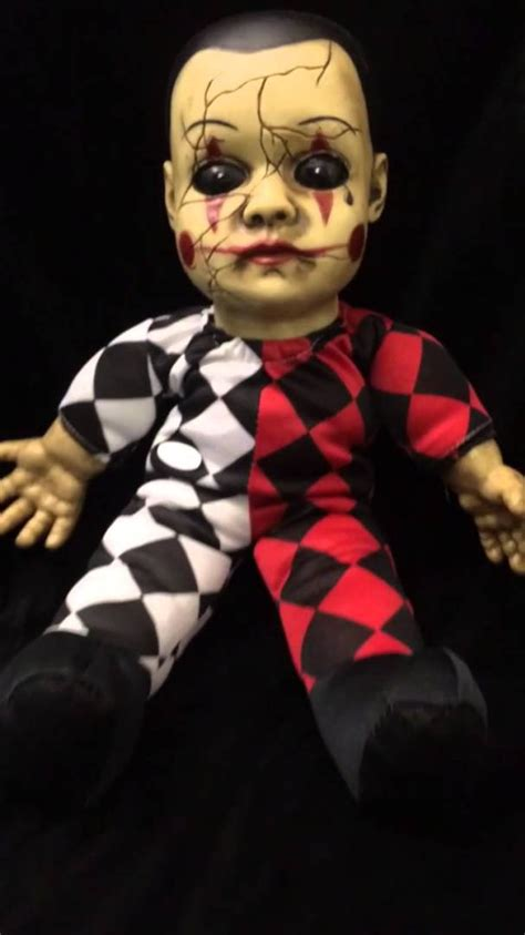 haunted doll prop hellequin haunted doll prop with sound haunted house prop