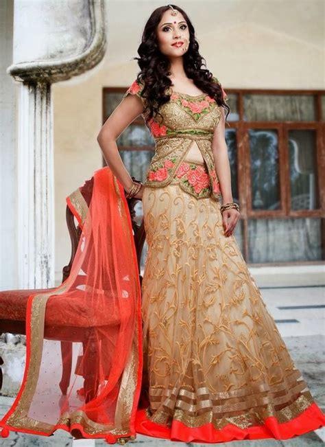 Sahira Blouse 2 new stylish lehenga choli for 2015 5 indu india