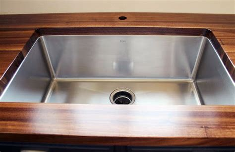 Undermount Sink Butcher Block Countertop butcher block w undermount sink kitchen