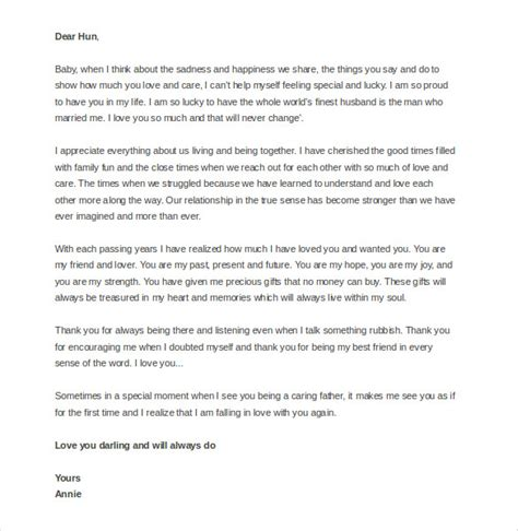 thank you letter to my husband on s day 12 letter templates to my husband free sle