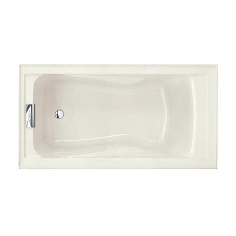 deep bathtubs home depot american standard evolution 5 ft left drain deep soaking tub with integral apron in linen 2425v