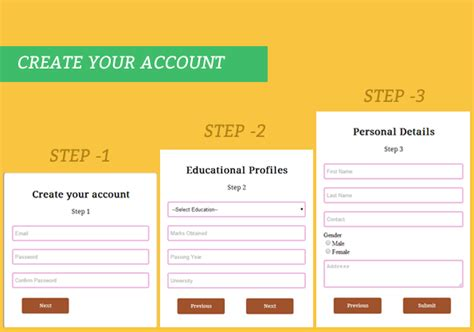 design form using jquery create multi step form using jquery and css3 formget