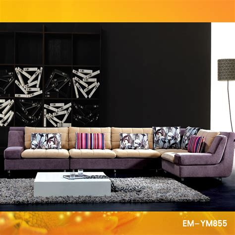 sofa set cloth design china 2011 fashion fabric sofa set designs ym 855