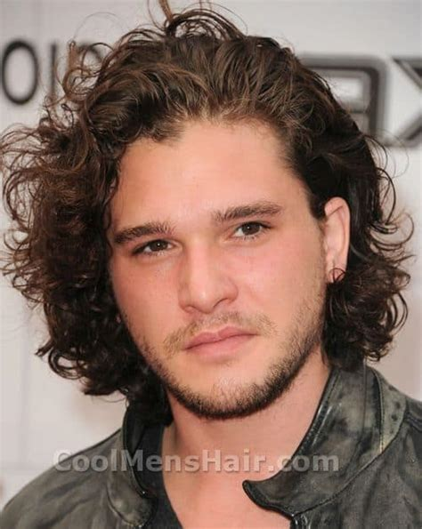 medieval men hairstyle kit harington naturally curly hairstyle cool men s hair