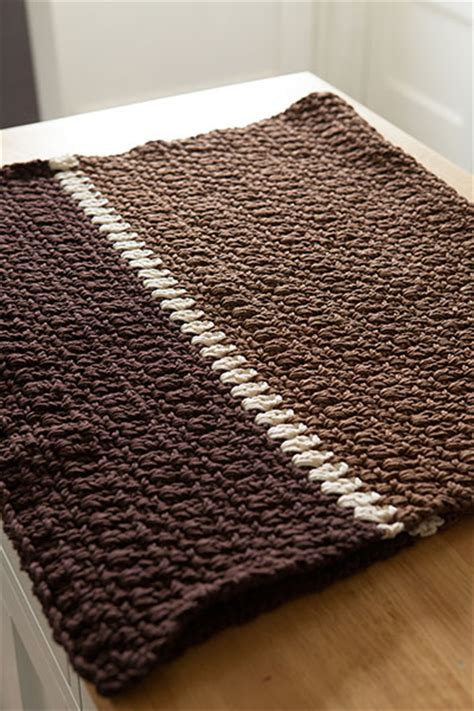 knit rug pattern crocheted kitchen rug knitting patterns and crochet patterns from knitpicks by edited by