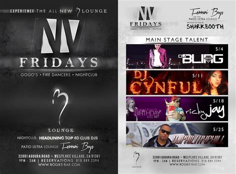 print design club flyer b lounge nv fridays theme