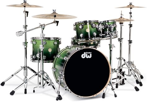 imagenes baterias musicales dw collector s series satin lime to black fade over maple
