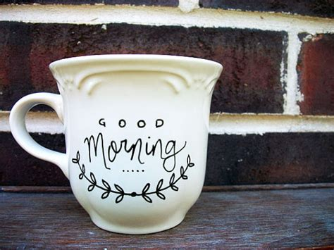 coffee mug ideas items similar to good morning hand painted ceramic mug
