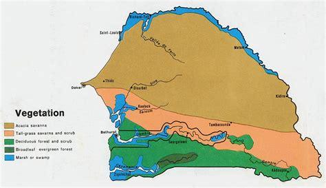 senegal map nationmaster maps of senegal 6 in total
