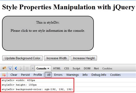jquery div height jquery set css height phpsourcecode net