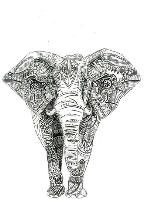 indian pattern tattoos tumblr black and white indian elephant drawing www pixshark com