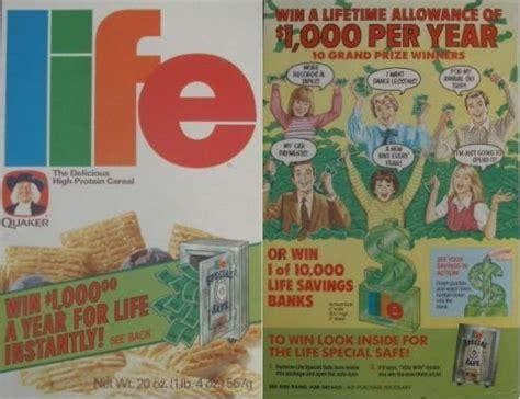 Box Tops Big Money Sweepstakes - life 1984 life big money box