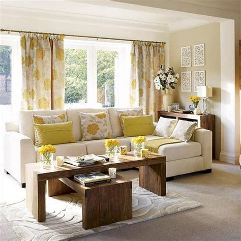 Yellow Grey And Beige Living Room Beige White Yellow Living Room Sofa Pillow Floral Curtains