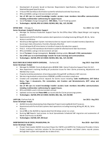Db2 Luw Dba Resume by Awesome Db2 Load Resume Image Resume Exle For