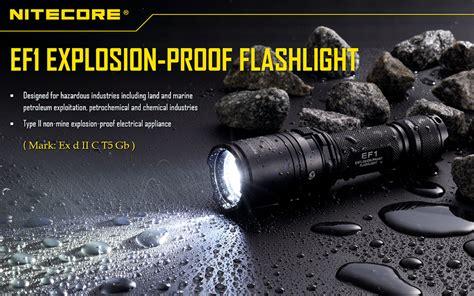 Senter Explosion Proof nitecore ef1 senter led cree xm l2 u3 830 lumens black