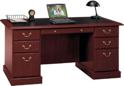 desk cherry bush furniture ex45666 03 manager s desk saratoga