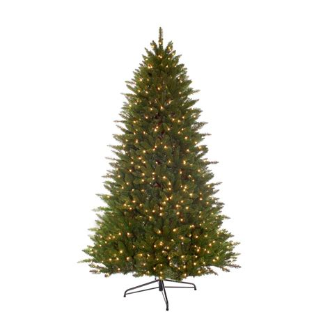bradford pine miracle christmas tree by puleo puleo international 7 5 ft pre lit incandescent miracle shape hamilton spruce artificial