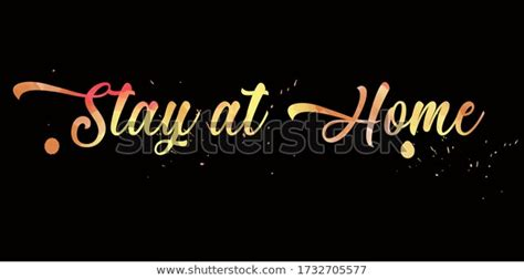 find stay home message vector created  stock images