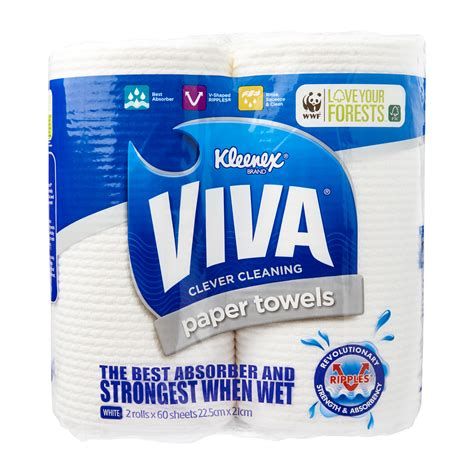Who Makes Viva Paper Towels - kleenex viva paper towels 0 25 from redmart