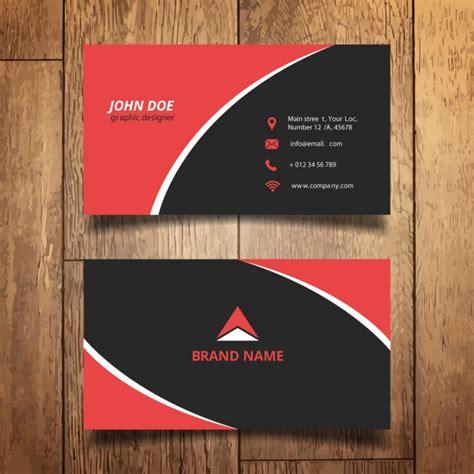 cool id card background design red cart 227 o de visita moderno vermelho e preto baixar vetores