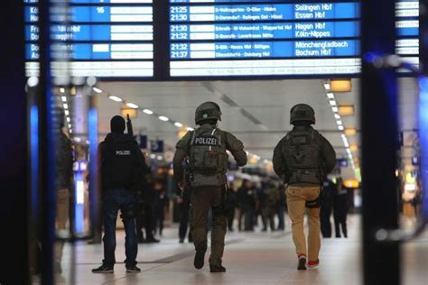 axe attack in germany dusseldorf train station axe attack injures seven man