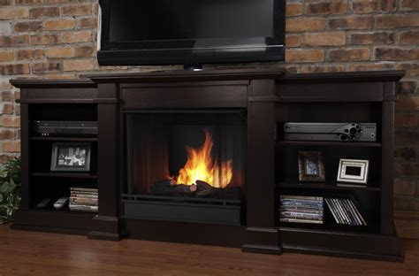 g1200 real fresno gel fireplace and media console