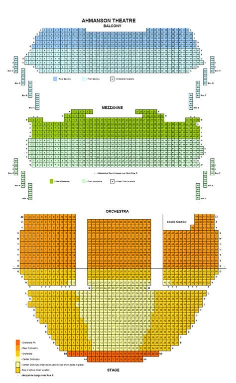 ahmanson theatre seating chart los angeles ahmanson theater seating chart ahmanson theater seat map