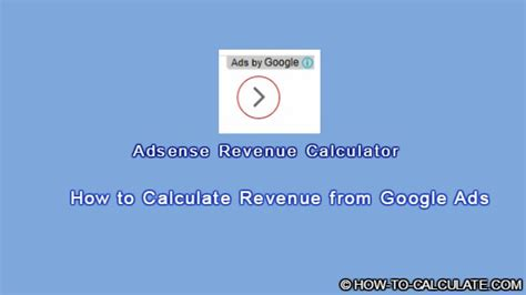 adsense revenue calculator how to calculate google adsense earnings for your blog