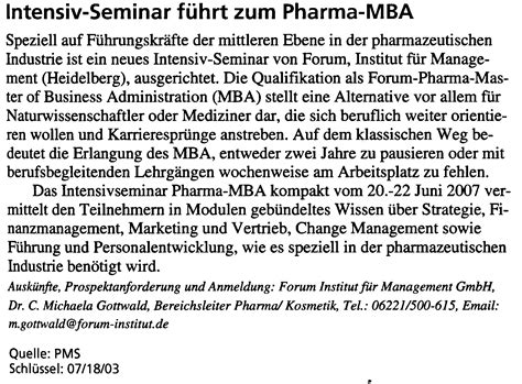 Mba In Pharmaceutical Marketing by Marketing Beratung Workshops Strategie