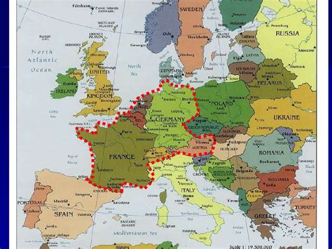 physical map of central europe lesson 1 western central europe