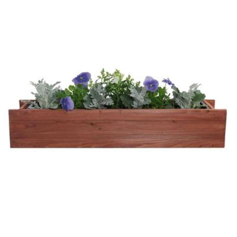 window boxes home depot pennington 30 in x 7 in wood window box 100507909 the