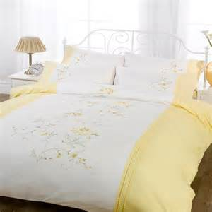 Unique Duvet Cover Lifestyle Claire Floral Embroiderey Duvet Cover Set Ebay