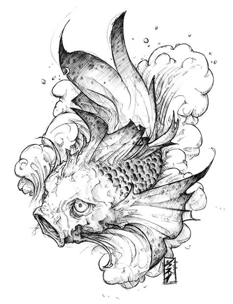 koi fish tattoo designs black and white koi ideas and koi designs page 8