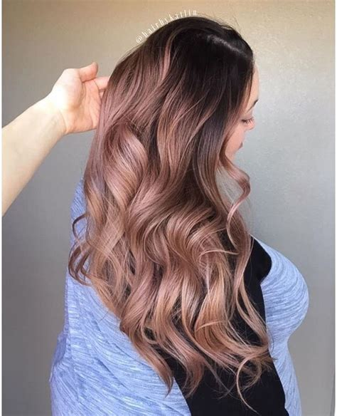 brunette to rose gold hair color rose gold long hair don t care i care