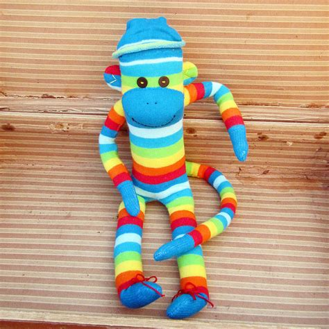 Handmade Sock Monkeys - handmade colourful sock monkeys by precious plum