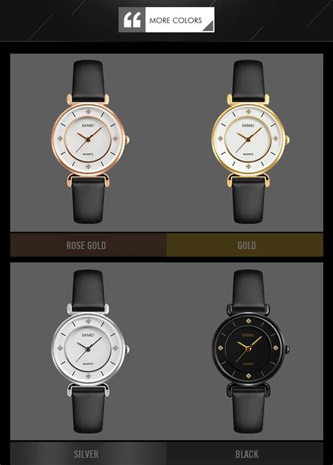 Skmei Casual Leather Water Resistant 30m 9092cl W T30 2 skmei 1330 30m waterproof leather band s quartz gold free shipping