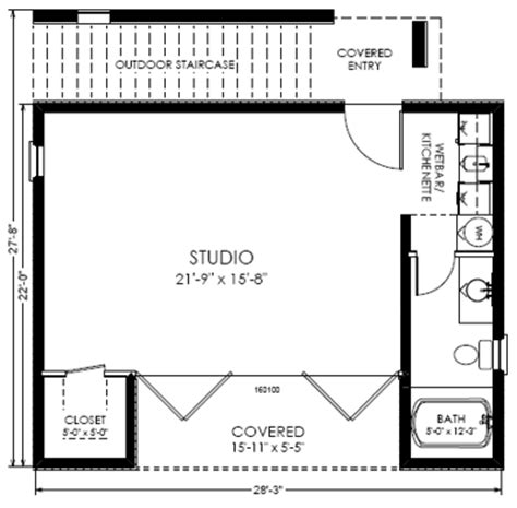 studio house plans guest house floor plan open floor plans small home small