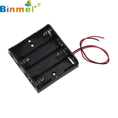 binmer 1pcs aa power battery storage case plastic box