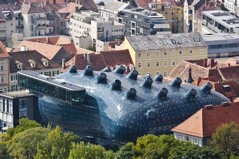 kunsthaus graz austria s friendly alien art museum generates its own
