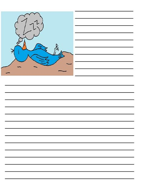 bird writing paper bird printable writing paper