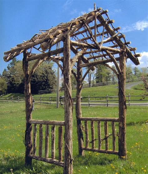 Wood Trellis Plans by Rustic Woodcraft Arbor 02