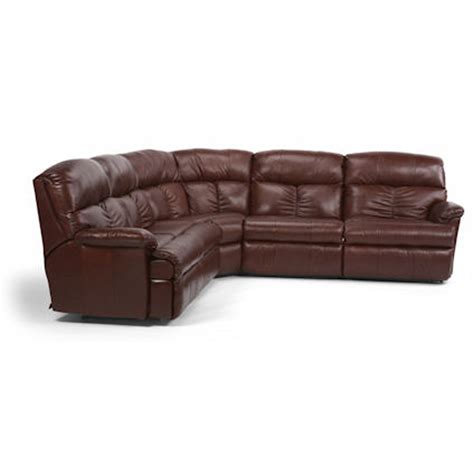 discount leather sectionals flexsteel 3098 sect triton leather reclining sectional