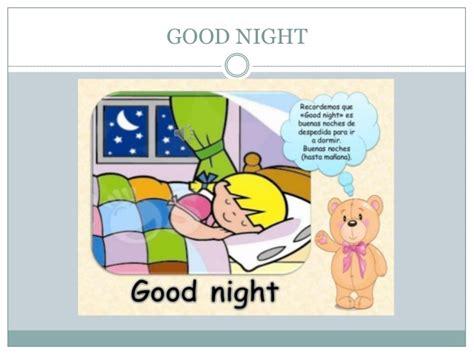 imagenes en ingles good night los saludos en ingles