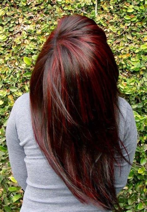 red hair with highlights and lowlights brown hair with blonde and red highlights and lowlights