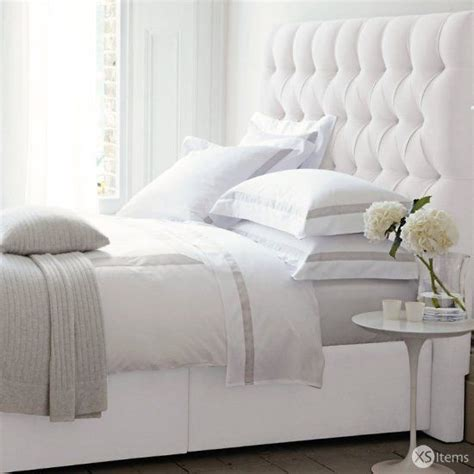 double white headboard the white company richmond double bed headboard divan