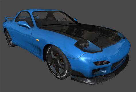 mazda car old model 3d model mazda rx7 vr ar low poly fbx cgtrader com