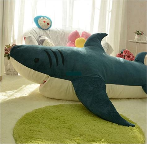 giant stuffed shark sleeping bag 2018 dorimytrader 79 200cm shark sleeping bag giant